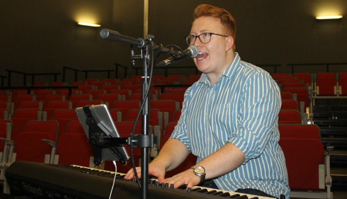 Tom Seals fine tunes for UK tour at South Cheshire College