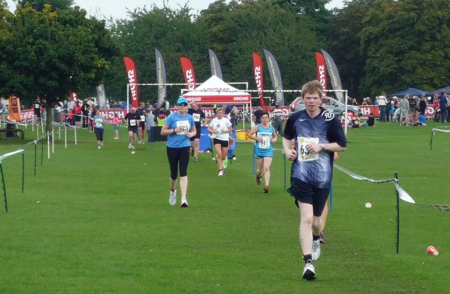 Cheshire Triathlon run - Barony Park