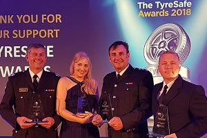Cheshire Fire and Rescue Service scoops tyre safety national award