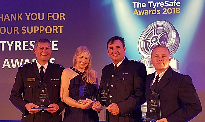 Tyre safe award - cheshire fire and rescue service