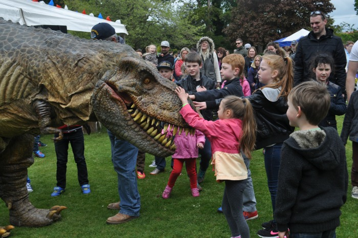 Family Festival - Tyrone T-Rex meets crowds