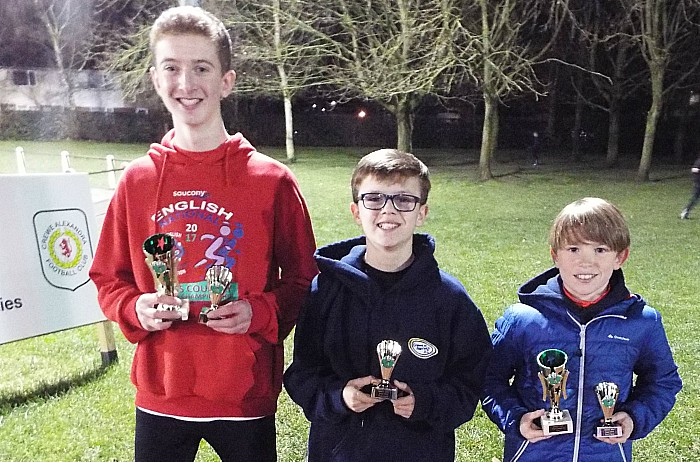 U13 boys team gold and Jake Wilson (right) 1st Oliver Atkinson (left) second individually