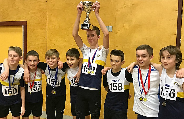 U13 boys win indoor trophy