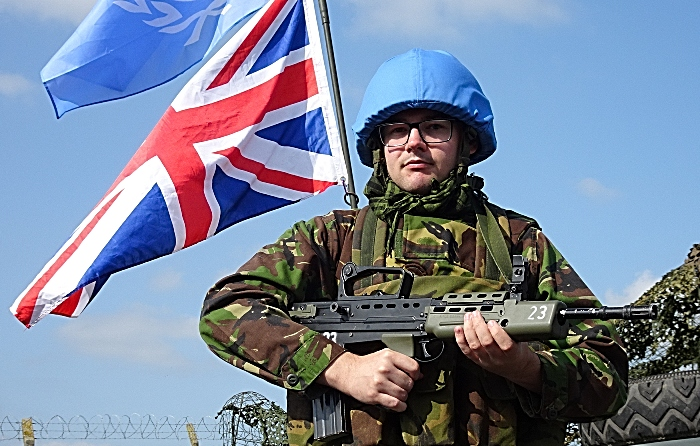 United Nations Protection Force soldier patrols his area (1)
