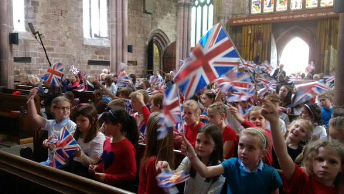 VE Day St Mary's Church in Nantwich