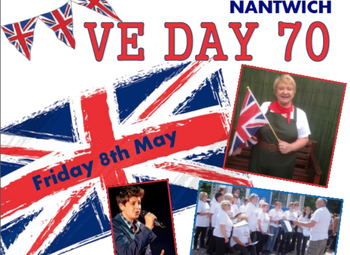 VE Day in Nantwich poster