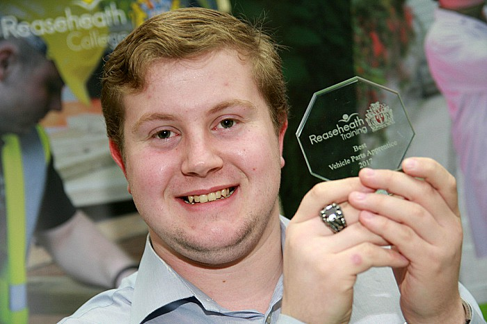 Vehicle Parts Alex Bebbington best apprentice
