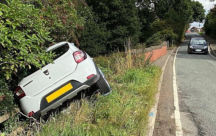 blackspot - Vehicle leaves the road at Golden Jubilee Bridge on Wistaston Green Road in Wistaston - Sept 2021 (1) (1)