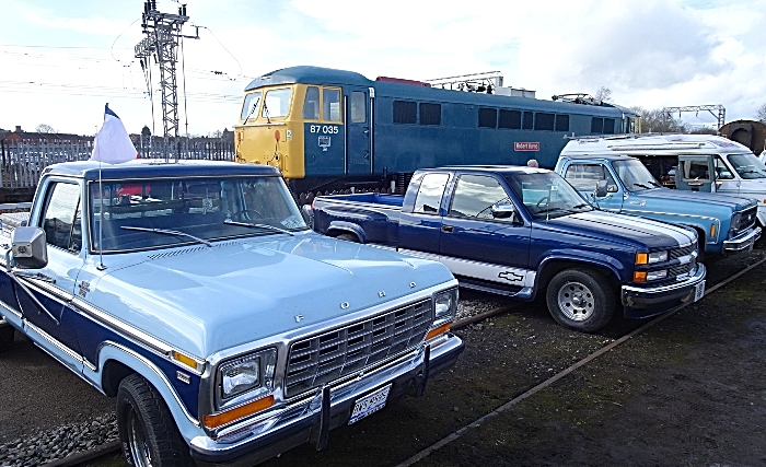 Vehicles on display outside at Crewe Heritage Centre (1)