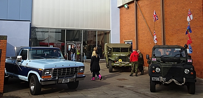 Vehicles on display outside the venue (1)