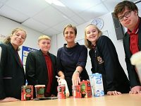 Nantwich pupils tuck in to World Food Day with Reaseheath College