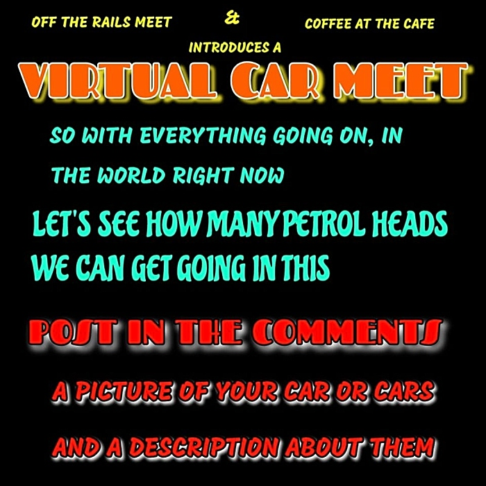 Virtual Car Meet graphic on Facebook - produced by Lee Smith (1)