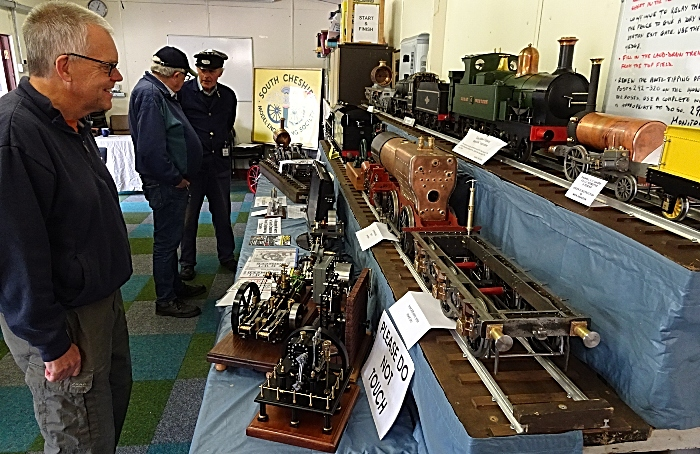 Visitor Mark Ray admires the display of locomotives and engines (1)