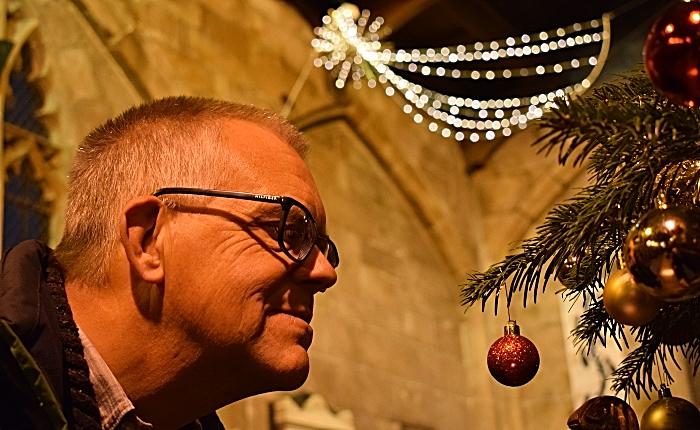 Visitor Mark Ray views a Christmas tree (1)