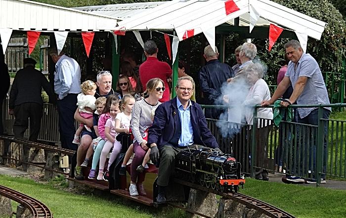 model - Visitors enjoy a miniature-gauge steam train ride (1)