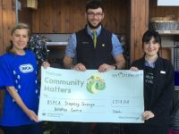 Supermarket donates to Stapeley RSPCA after swan saved