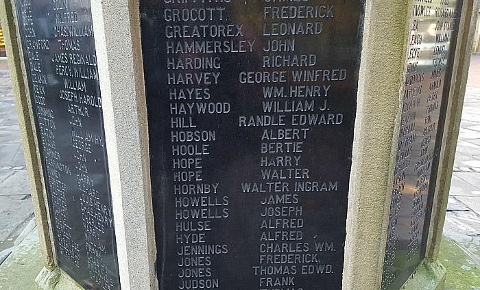Walter Ingram Hornby - war memorial