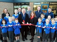 Staff and pupils at Weaver School in Nantwich celebrate new building
