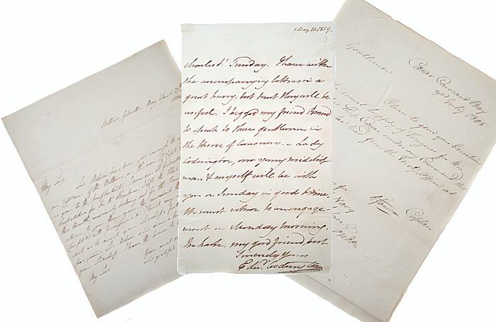Wellington letters - Nelson auction, Peter Wilson
