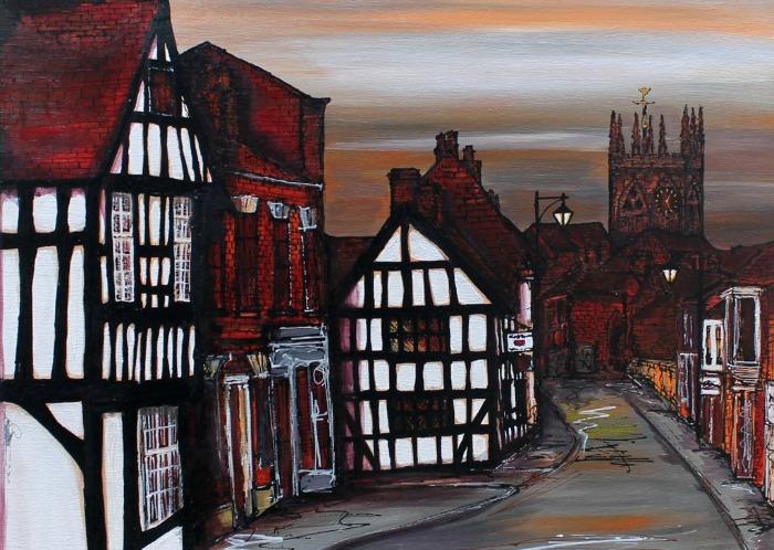 Hidden Treasures - Welsh Row and Church by Sally Huntington