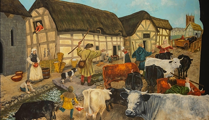 talks - Welsh cattle drovers visit the Row in Medieval times by Les Pickford (1)