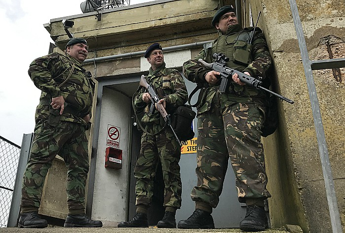 Western Forces guard the bunker entrance (2)