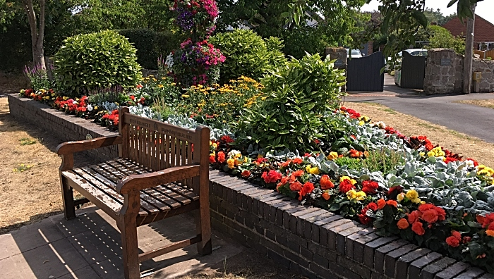Westfield Drive flower bed - photo by David Clews