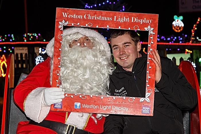 Weston Christmas Light Display 2018 - Father Christmas and Graham Witter (1)