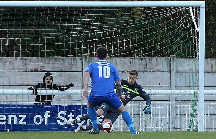 Will Jaaskelainen saves a Whitby Town penalty