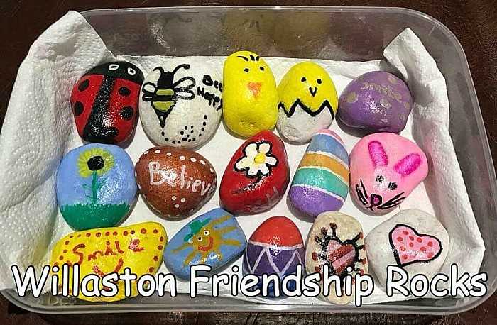 Willaston Friendship Rocks - pebbleart