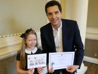 Youngster wins Crewe and Nantwich MP's Christmas card contest