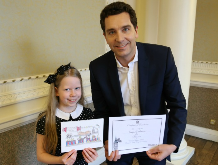 Winner Freya Goodwin with Edward Timpson