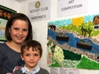 Nantwich school winners of 2014 Rotary Art competition unveiled