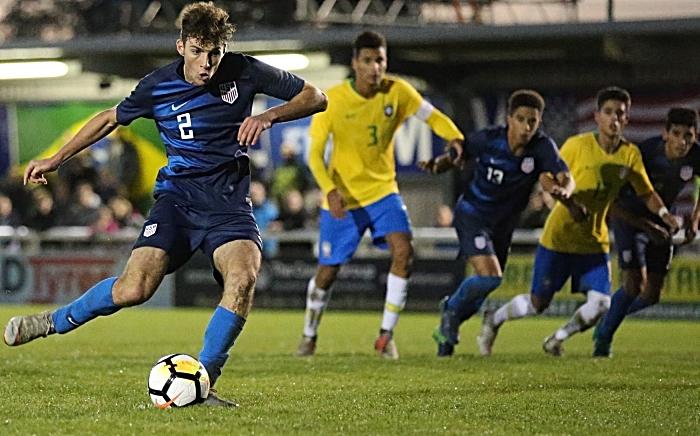 USA Winning goal - Joe Scally scores from the penalty mark (1)