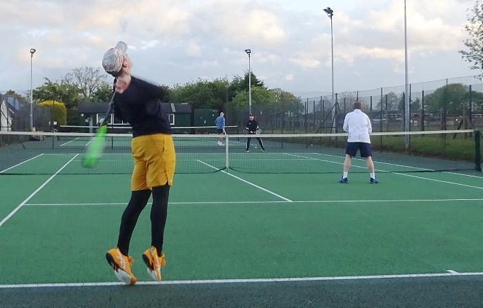 Wistaston A vs Goostrey A - Goostrey player serves the ball (1)