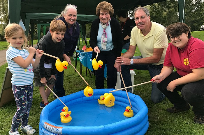 Wistaston Community Council - hook-a-duck stall - members and friends