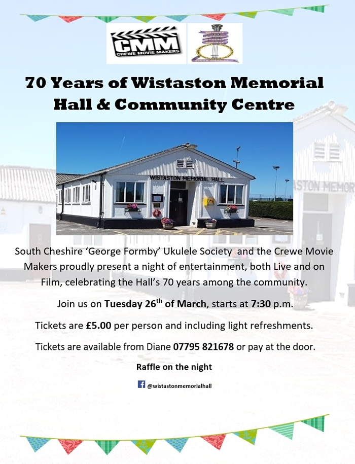 Wistaston Memorial Hall & Community Centre - 70 Years celebration event (1)