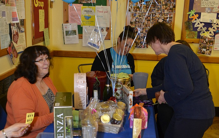 Wistaston Rose Queens Fashion Show and Sale - raffle stall