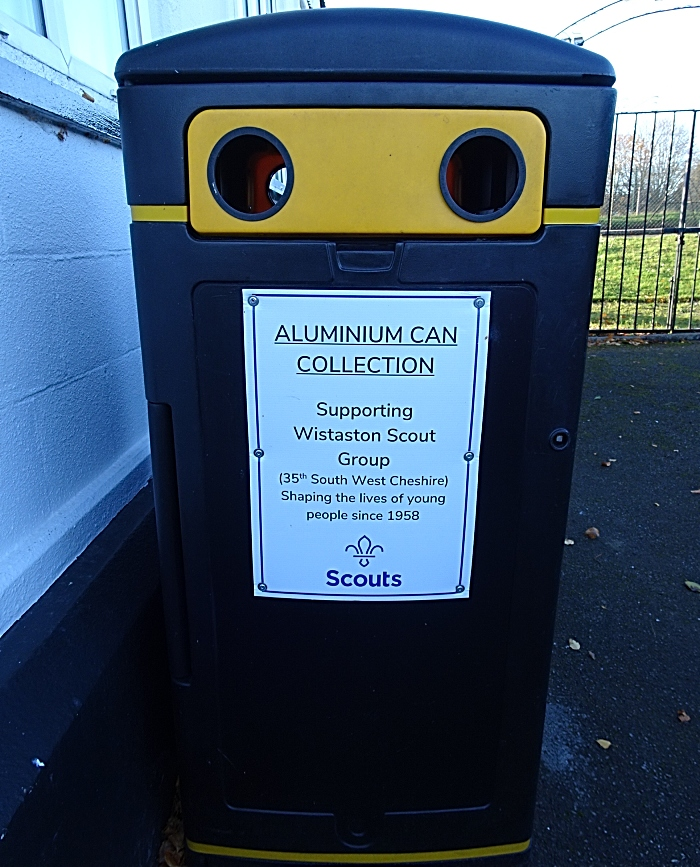 Wistaston Scout Group - aluminium can collection bin (1)