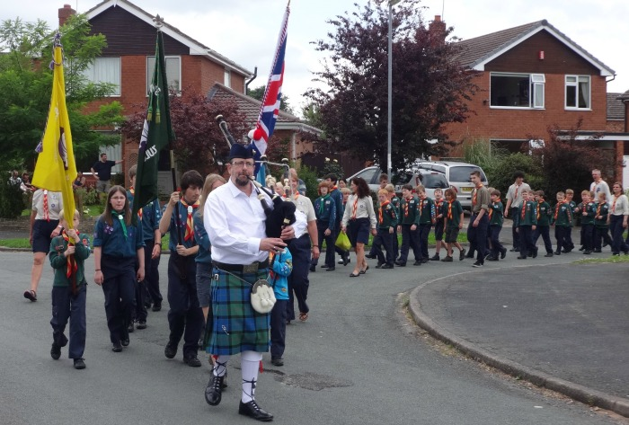 Wistaston Village Fete procession