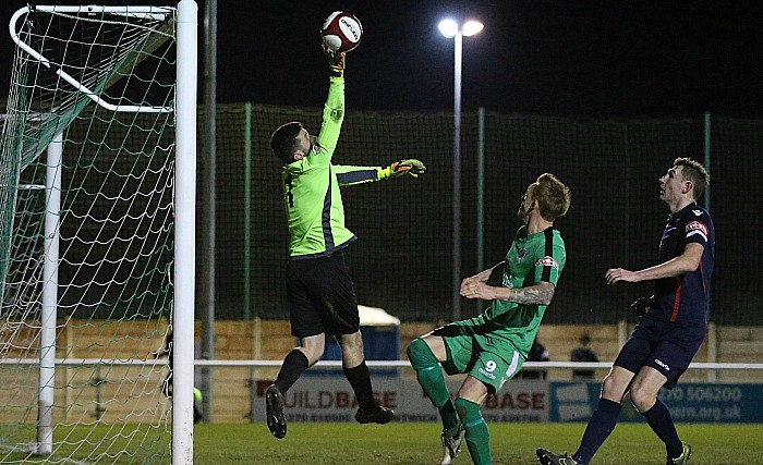 Witton keeper Ryan Nield saves close to full-time