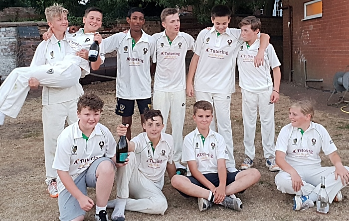 Woore CC Under 14s winning the title