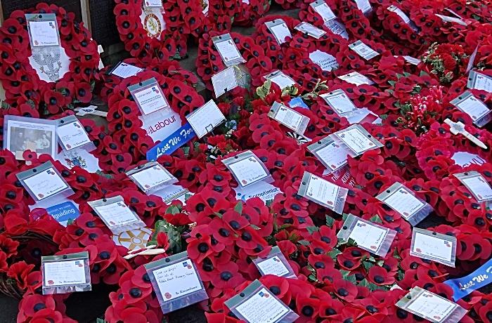 Wreaths at Crewe War Memorial (1)