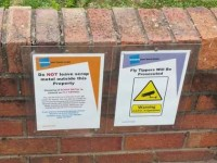 "Wulvern's pledge over fly-tipping signs and CCTV outside ""Flash"" home"