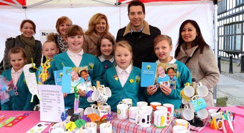 Nantwich school pupils show off business brains on market stall