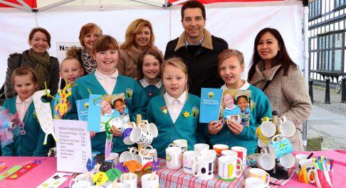 Nantwich school pupils show off business brains on market stall