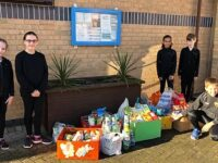 Stapeley pupils harvesting for Nantwich Foodbank
