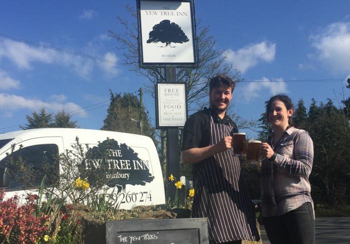 Yew Tree Inn celebrates brewers award before Easter festival