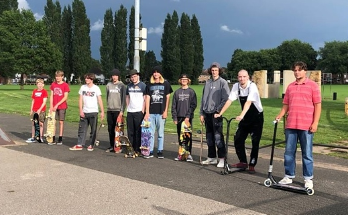 Youngsters on barony park skatepark