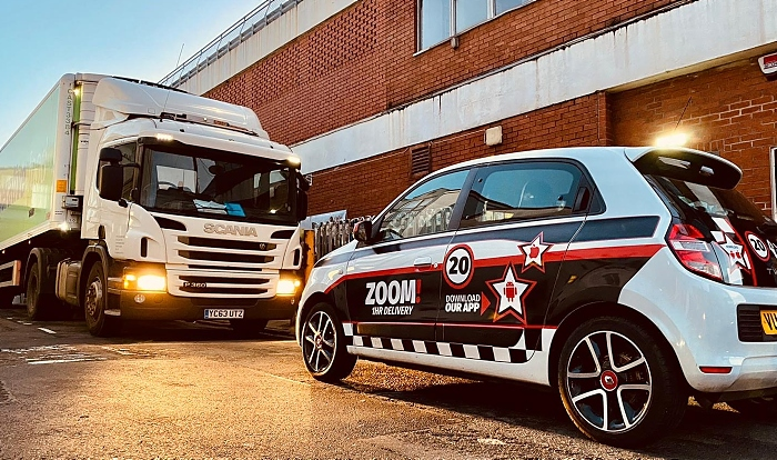 Zoom 1hr car with Co-op lorry - delivery